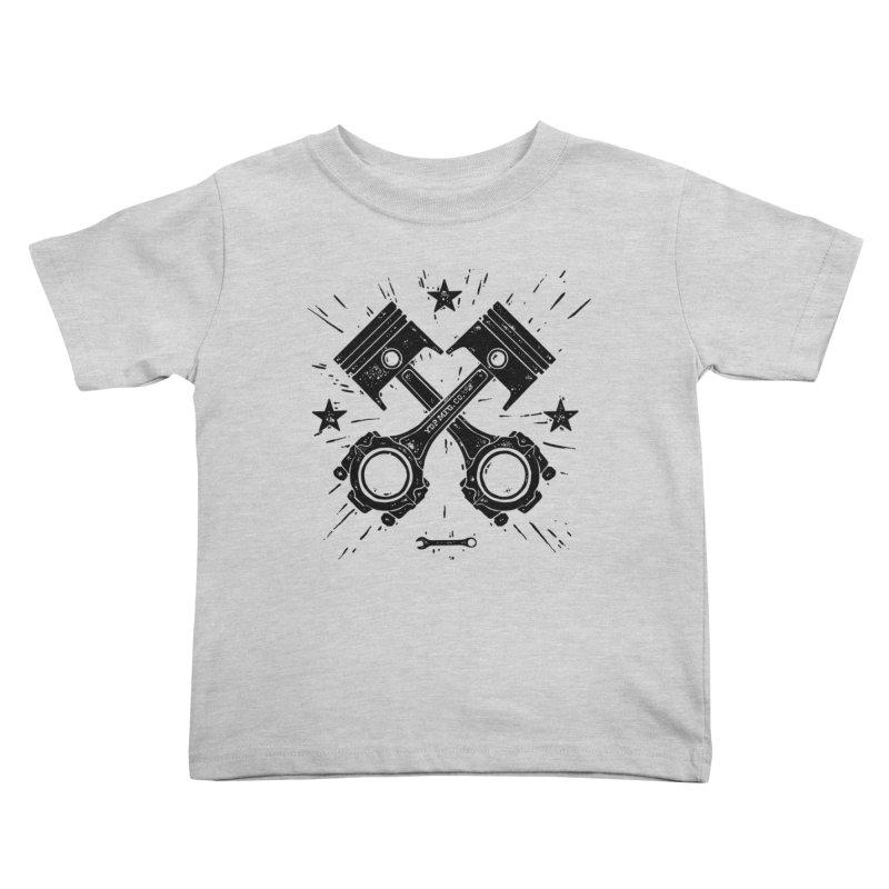 Pistons Kids Toddler T-Shirt by municipal's Artist Shop