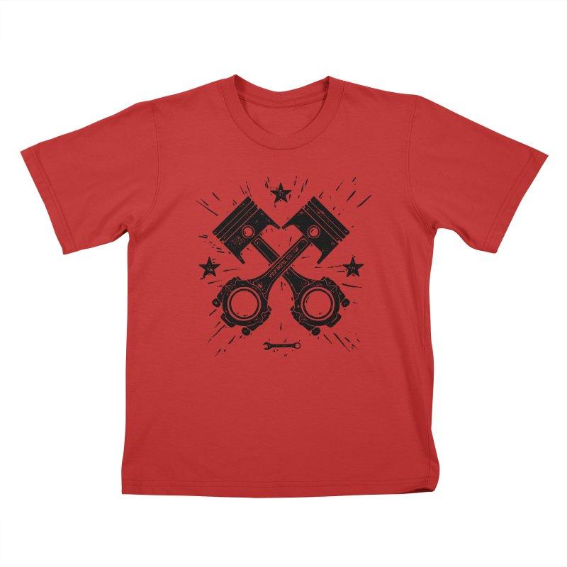 Pistons Kids T-Shirt by municipal's Artist Shop