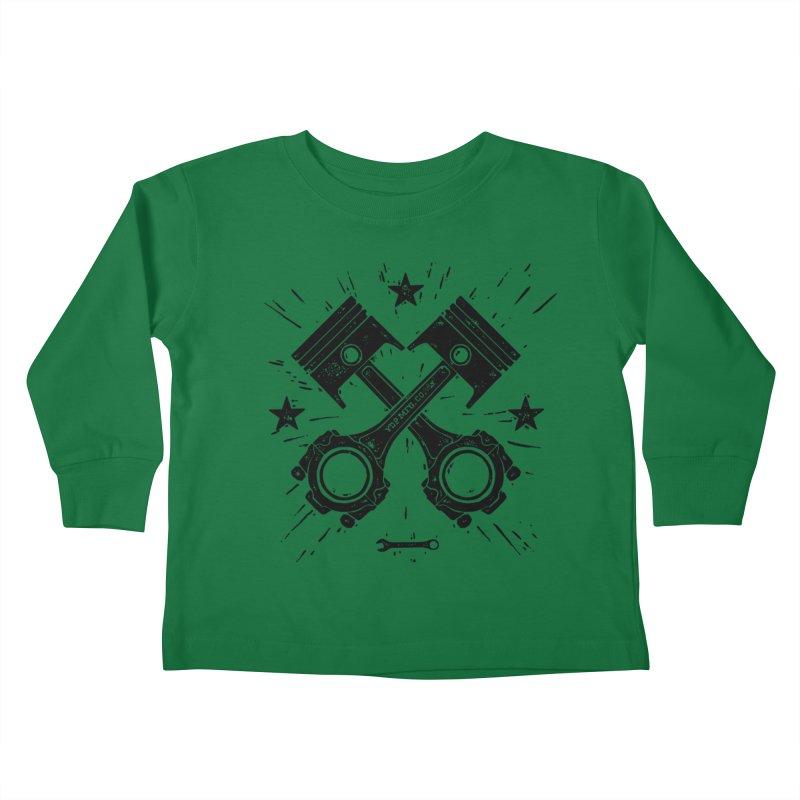 Pistons Kids Toddler Longsleeve T-Shirt by municipal's Artist Shop