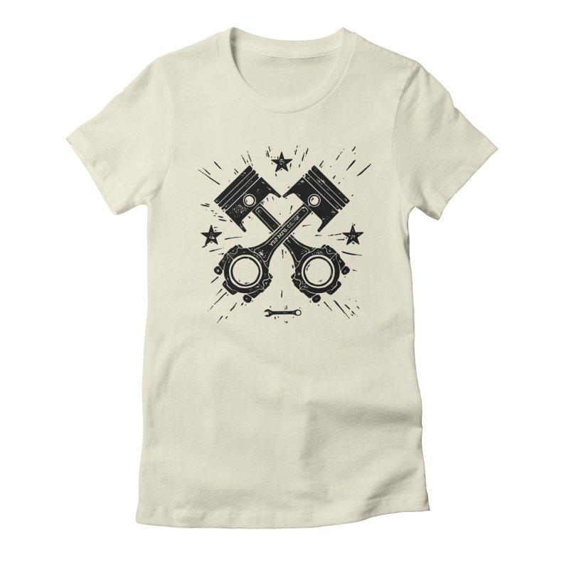 Pistons Women's Fitted T-Shirt by municipal's Artist Shop