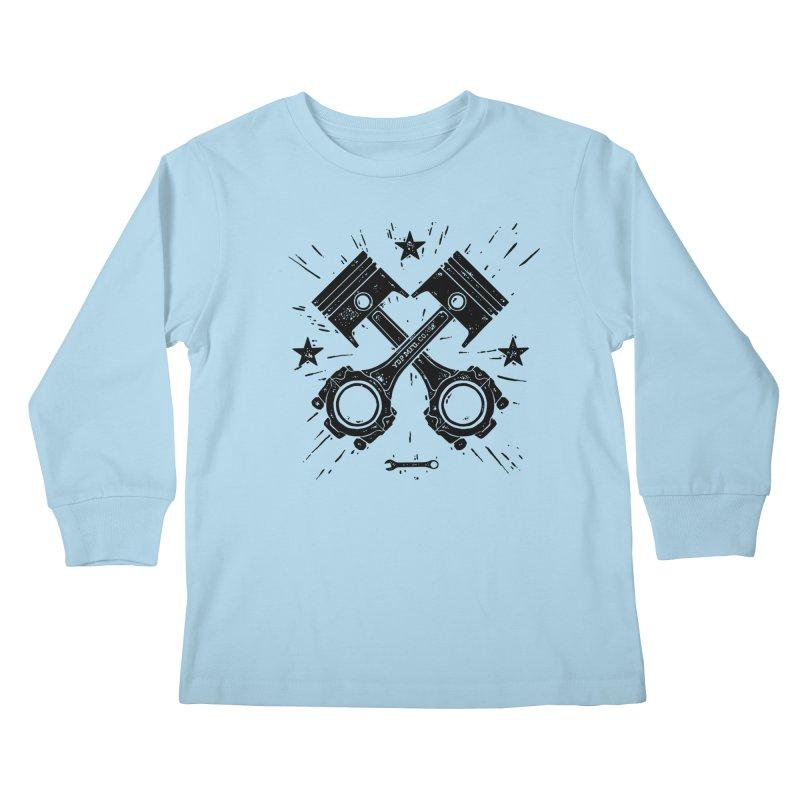 Pistons Kids Longsleeve T-Shirt by municipal's Artist Shop