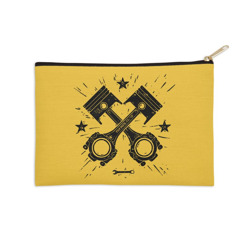 Pistons Accessories Zip Pouch by municipal's Artist Shop
