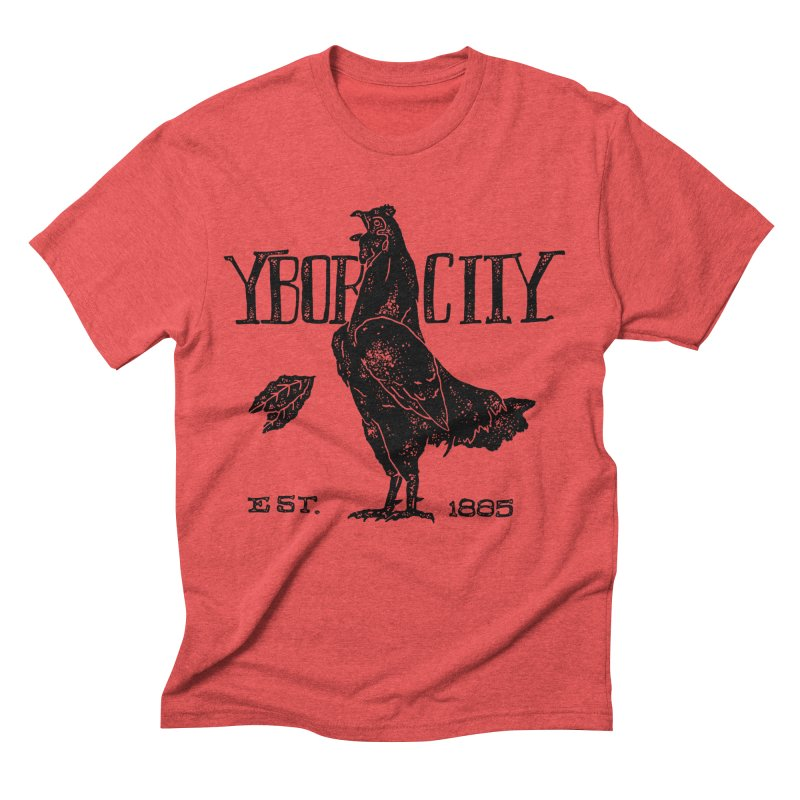 Ybor City in Men's Triblend T-shirt Chili Red by municipal's Artist Shop