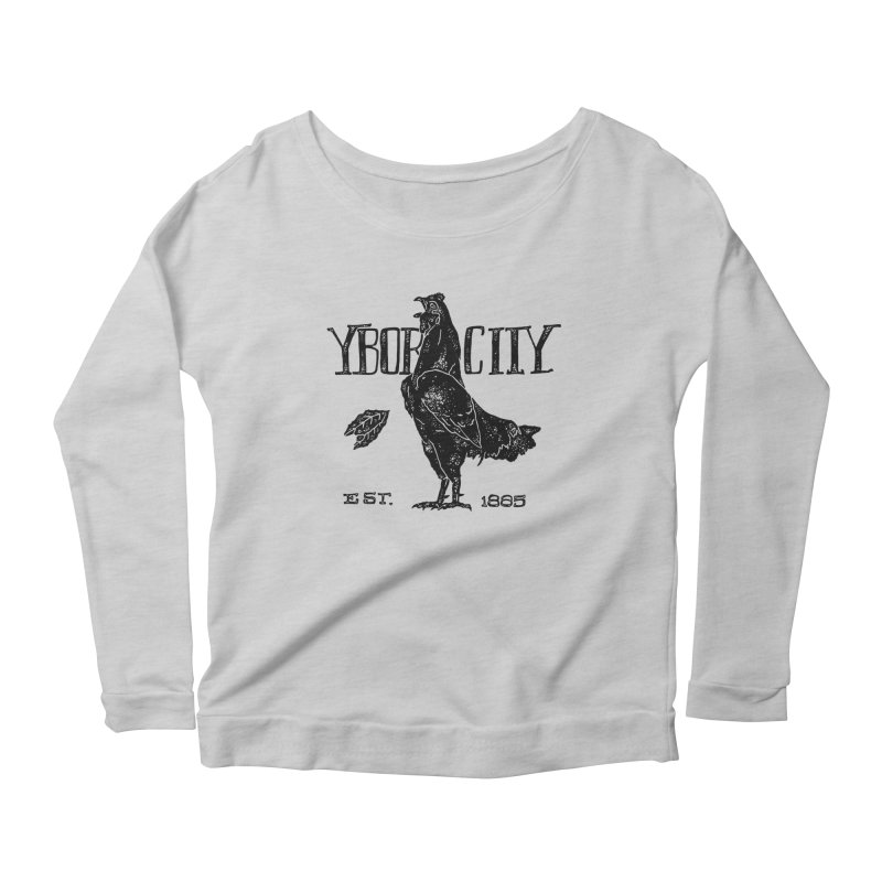 Ybor City Women's Longsleeve Scoopneck  by municipal's Artist Shop