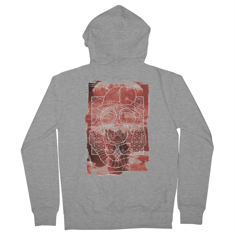 Gas mask Men's French Terry Zip-Up Hoody by MunkyDesign