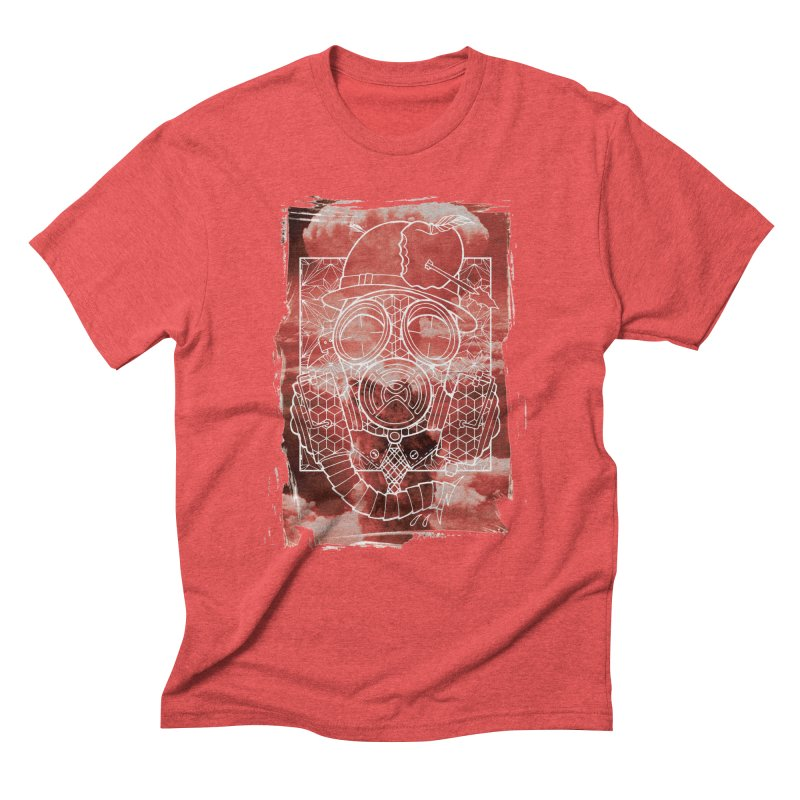 Gas mask Men's Triblend T-Shirt by MunkyDesign