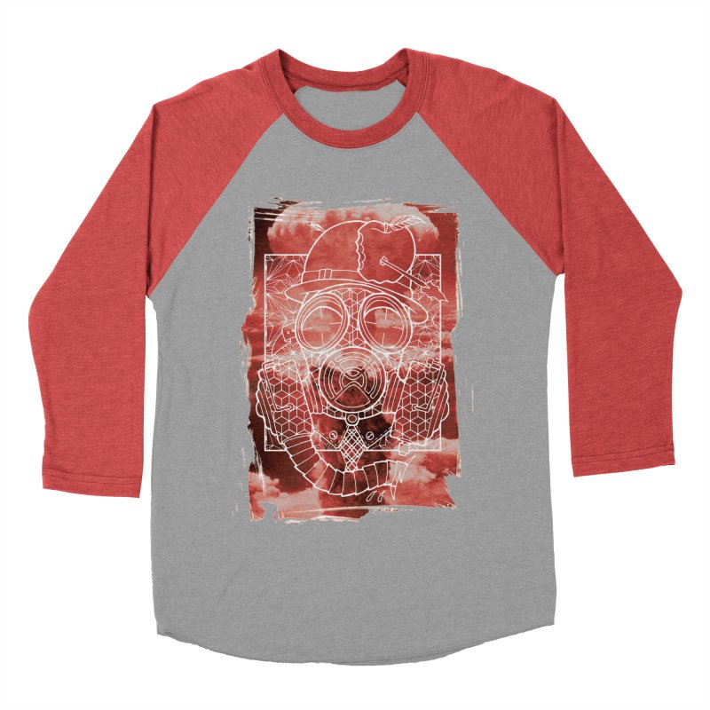 Gas mask Men's Baseball Triblend Longsleeve T-Shirt by MunkyDesign