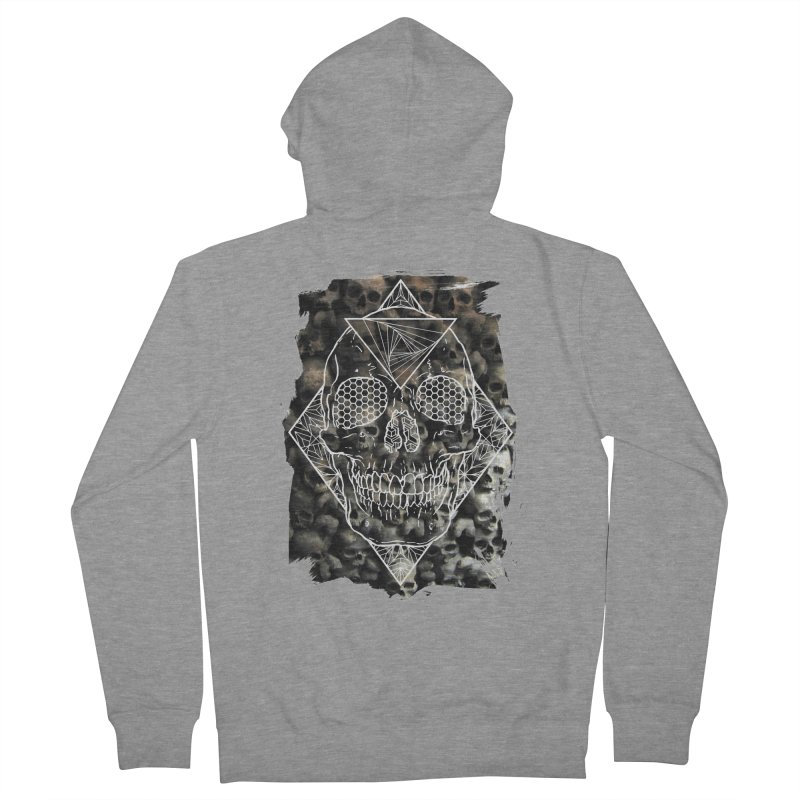 Skull Men's French Terry Zip-Up Hoody by MunkyDesign