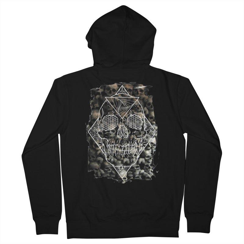 Skull Men's French Terry Zip-Up Hoody by MunkyDesign