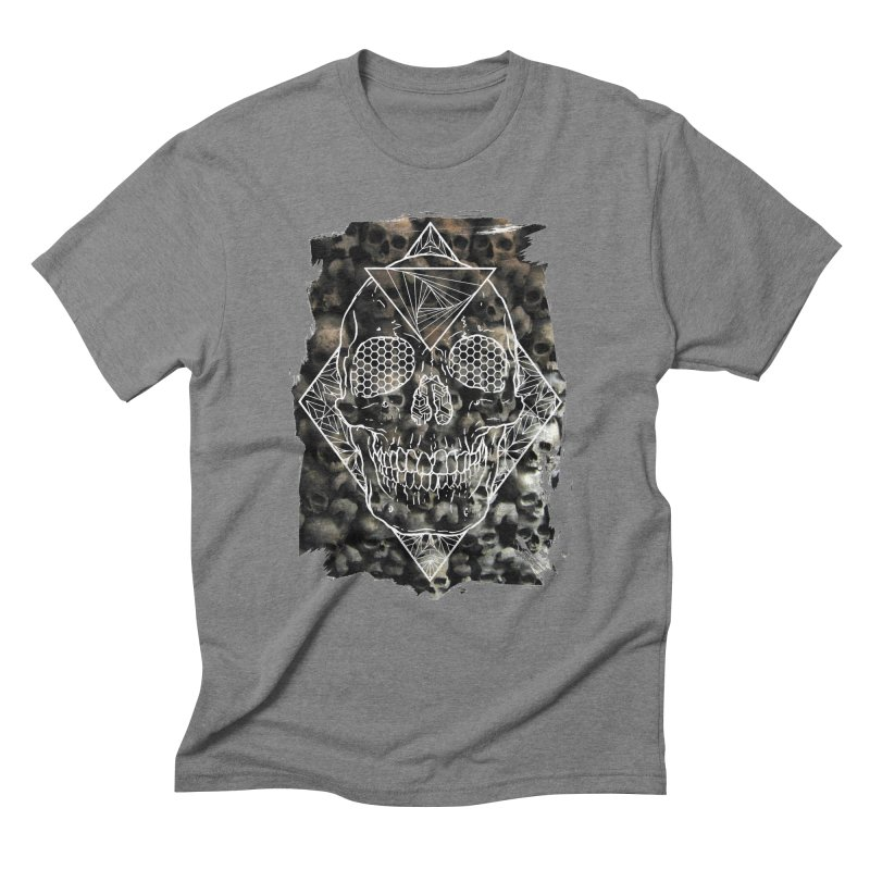Skull Men's Triblend T-Shirt by MunkyDesign