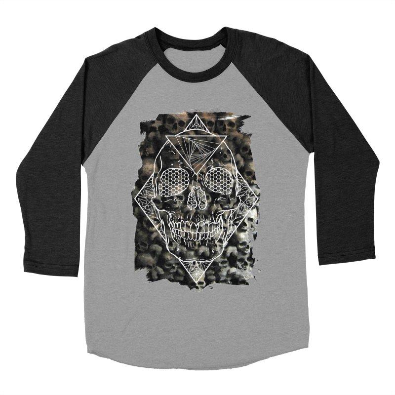 Skull Men's Baseball Triblend Longsleeve T-Shirt by MunkyDesign