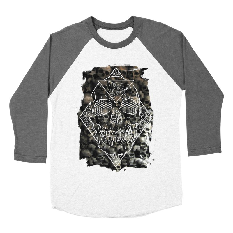 Skull Men's Baseball Triblend Longsleeve T-Shirt by MunkyDesign