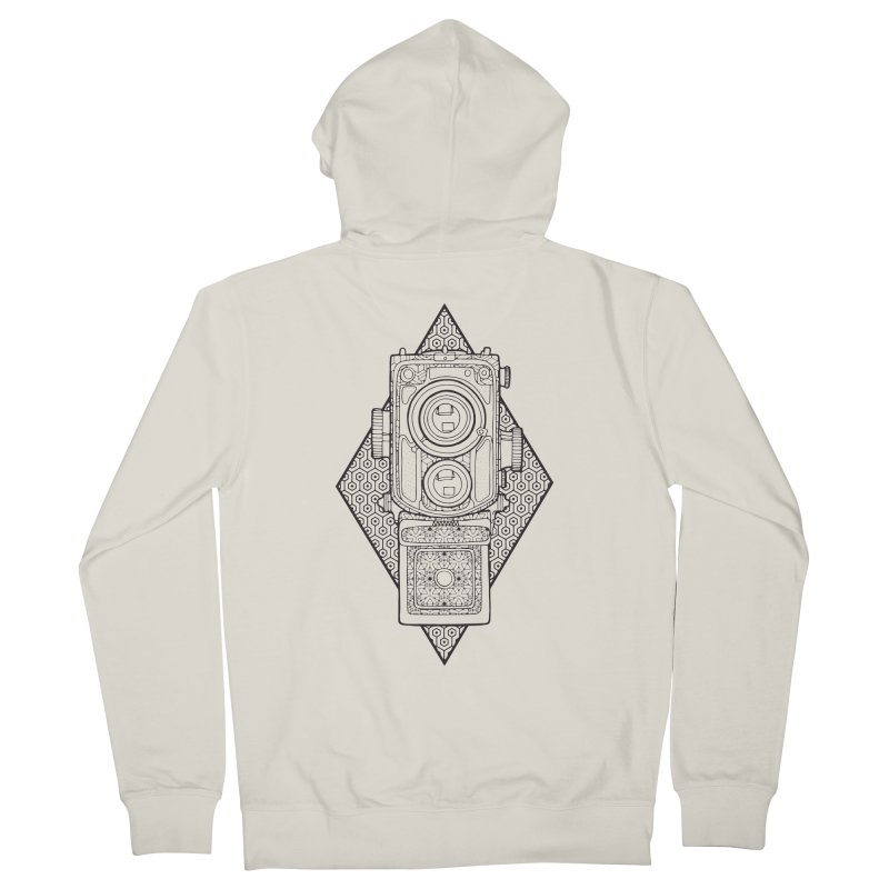Camera line work Men's French Terry Zip-Up Hoody by MunkyDesign