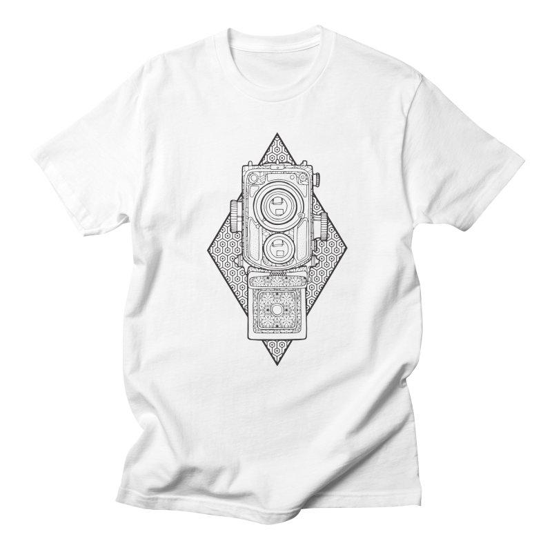 Camera line work Men's Regular T-Shirt by MunkyDesign