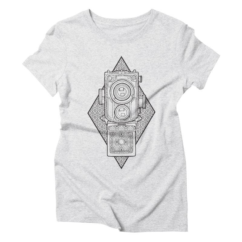 Camera line work Women's Triblend T-Shirt by MunkyDesign