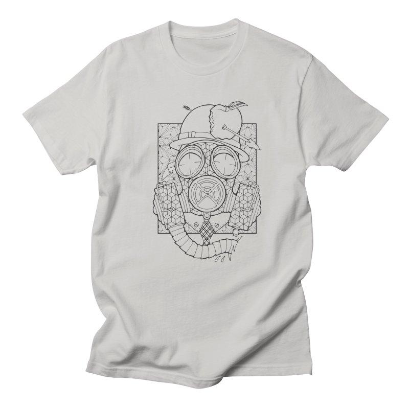 Gasmask lines Men's T-Shirt by MunkyDesign