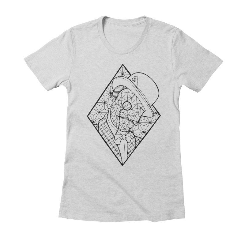 Gentleman lines Women's Fitted T-Shirt by MunkyDesign