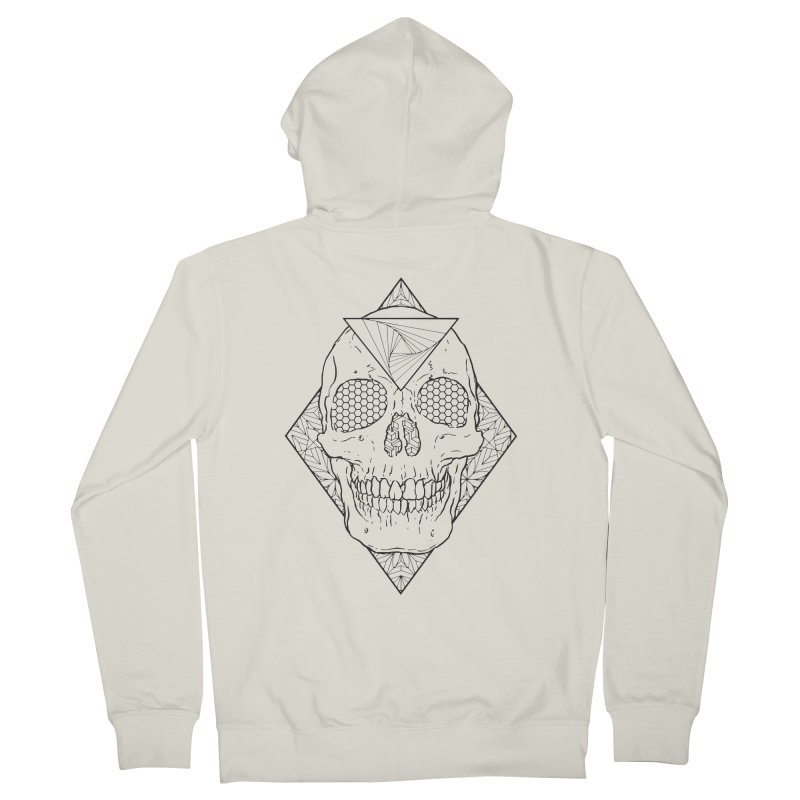 Skull lines Men's French Terry Zip-Up Hoody by MunkyDesign