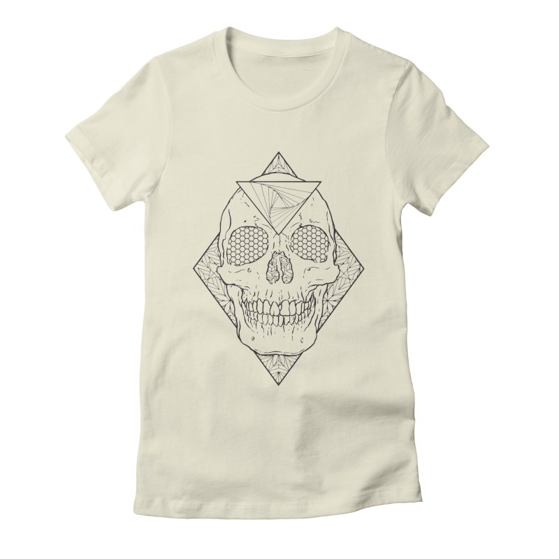 Skull lines Women's Fitted T-Shirt by MunkyDesign