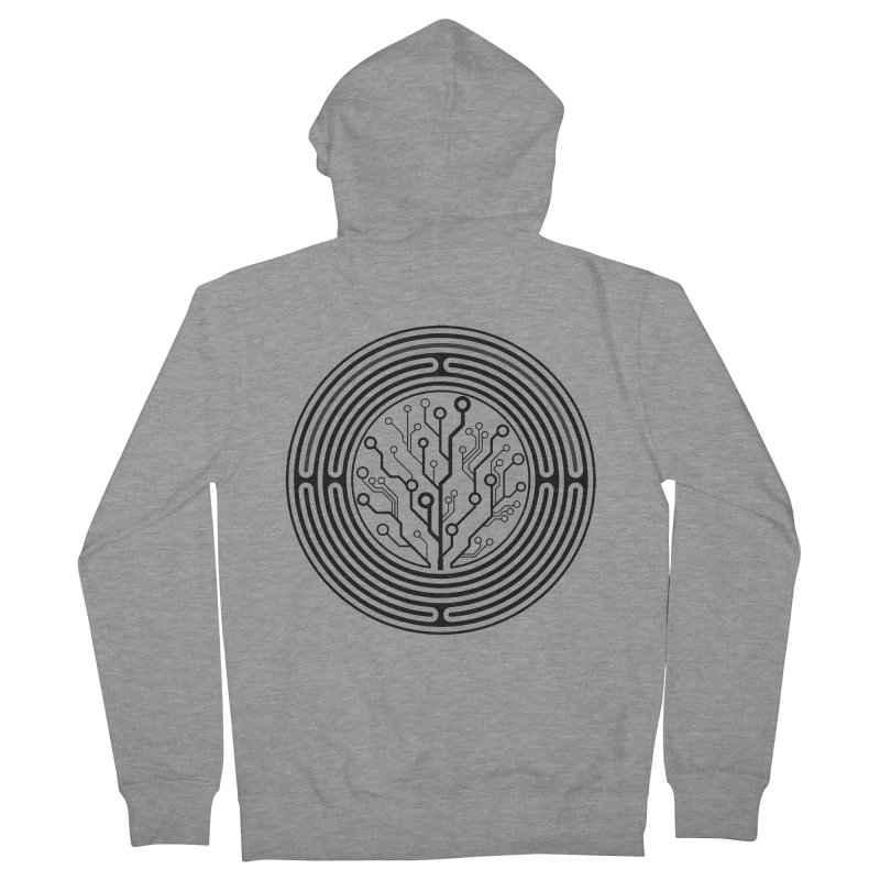 Geometry 1 Men's French Terry Zip-Up Hoody by MunkyDesign