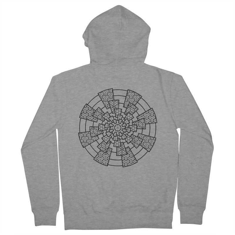 Geometry 3 Men's French Terry Zip-Up Hoody by MunkyDesign