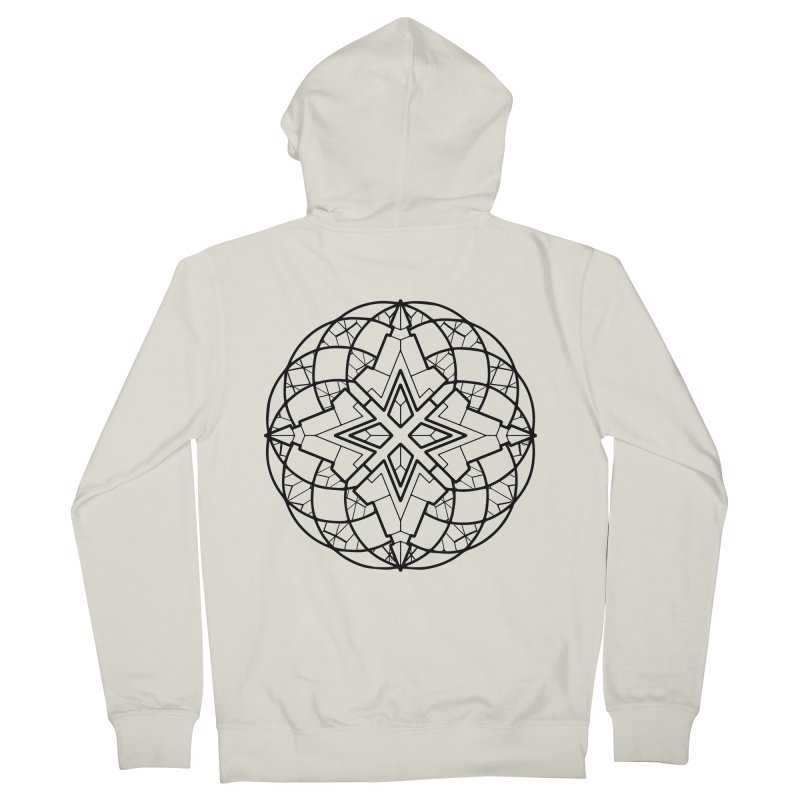 Geometry 6 Men's French Terry Zip-Up Hoody by MunkyDesign