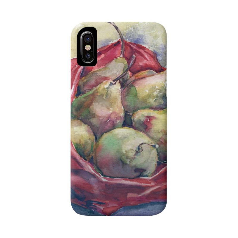Pears in a red plastic bag. Watercolor painting for print. Accessories Phone Case by sleepwalker's Artist Shop