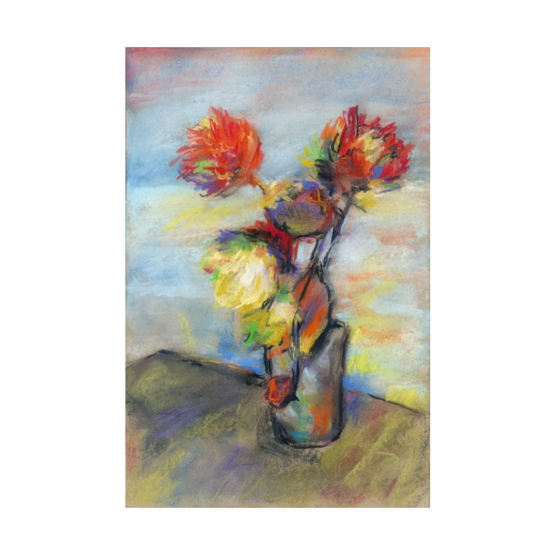 Flowers. Pastel crayons on cardboard. by sleepwalker's Artist Shop