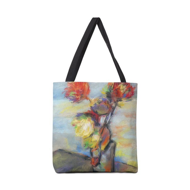 Flowers. Pastel crayons on cardboard. Accessories Bag by sleepwalker's Artist Shop