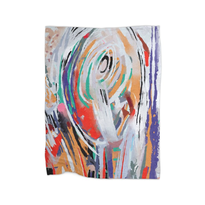 Abstract painting Home Blanket by sleepwalker's Artist Shop