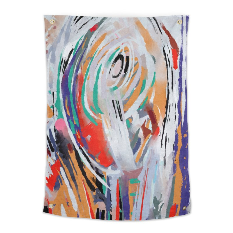 Abstract painting Home Tapestry by sleepwalker's Artist Shop