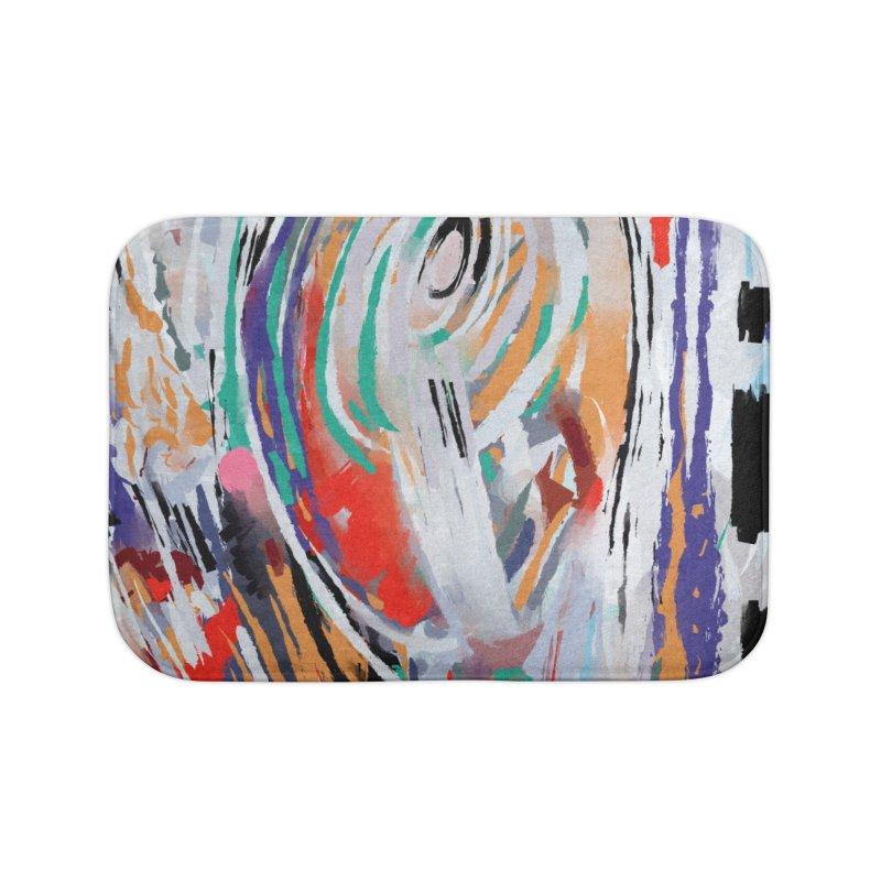 Abstract painting Home Bath Mat by sleepwalker's Artist Shop