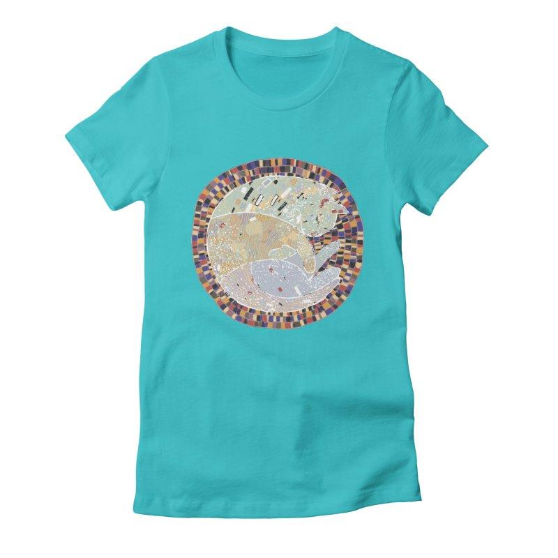 Cat's dream Women's Fitted T-Shirt by sleepwalker's Artist Shop