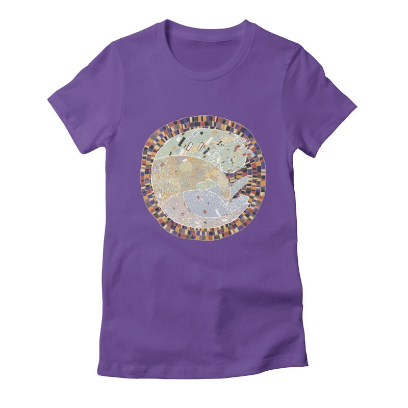 Cat's dream Women's Fitted T-Shirt by sleepwalker's Artist Shop