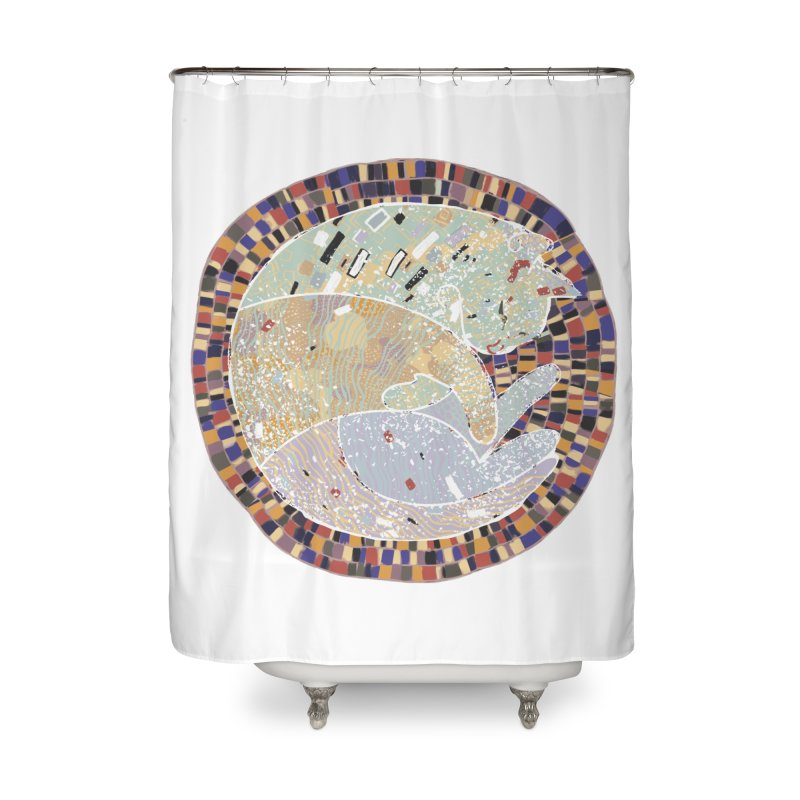 Cat's dream Home Shower Curtain by sleepwalker's Artist Shop