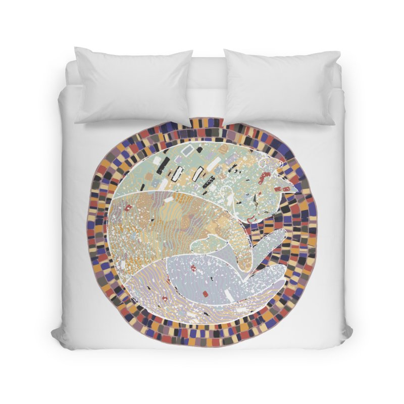 Cat's dream Home Duvet by sleepwalker's Artist Shop