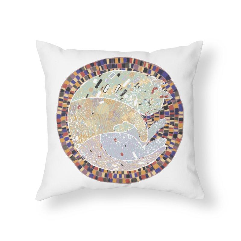 Cat's dream Home Throw Pillow by sleepwalker's Artist Shop