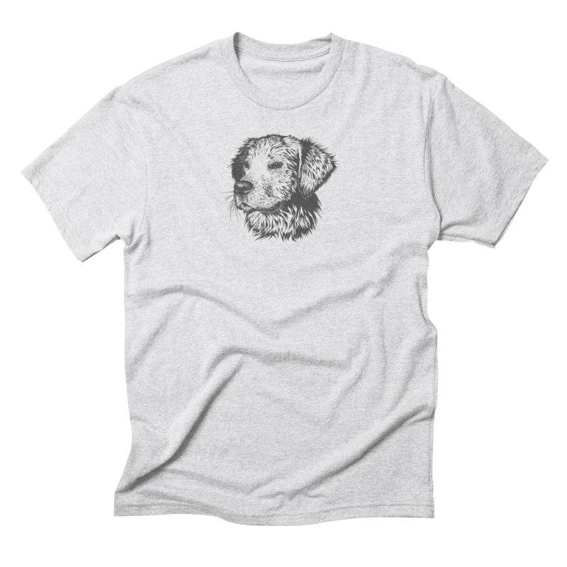 Dog Men's Triblend T-Shirt by muratduman's Artist Shop