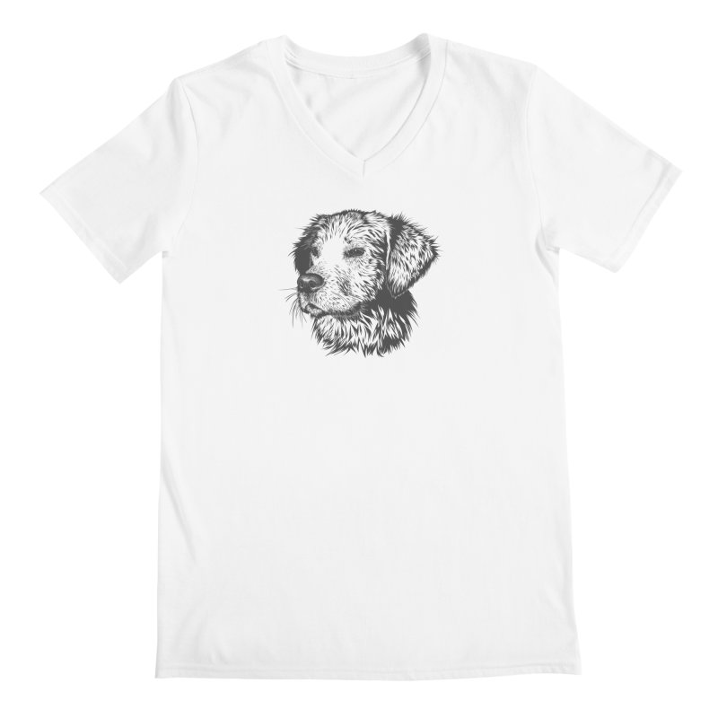 Dog Men's V-Neck by muratduman's Artist Shop