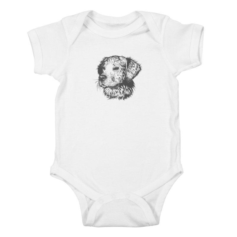 Dog Kids Baby Bodysuit by muratduman's Artist Shop