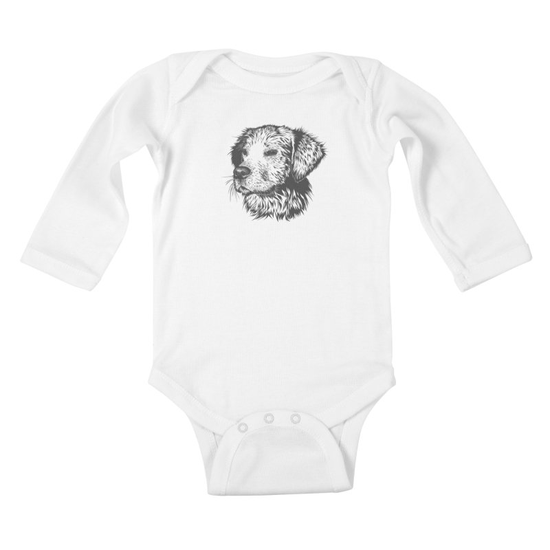 Dog Kids Baby Longsleeve Bodysuit by muratduman's Artist Shop