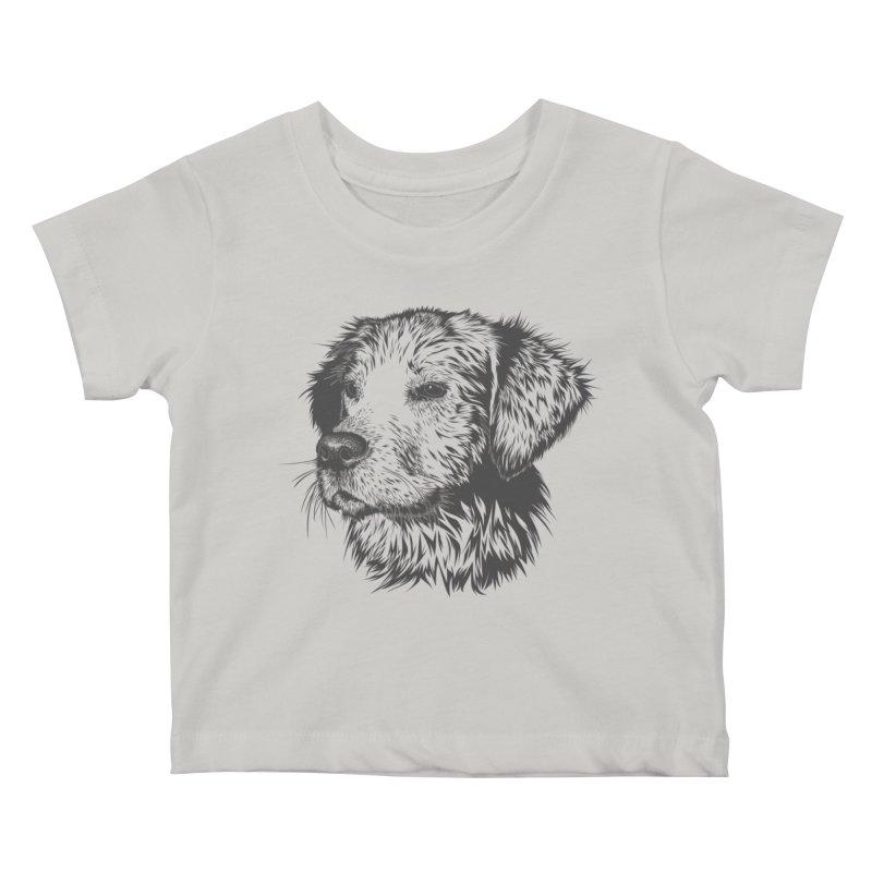 Dog Kids Baby T-Shirt by muratduman's Artist Shop