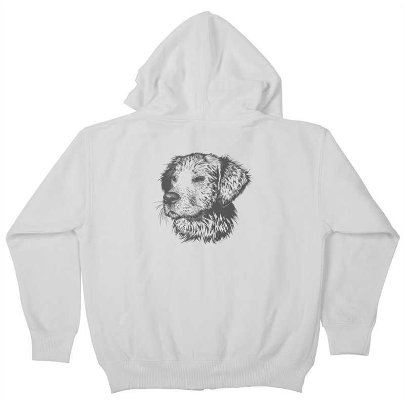 Dog Kids Zip-Up Hoody by muratduman's Artist Shop