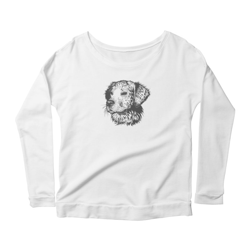 Dog Women's Longsleeve Scoopneck  by muratduman's Artist Shop