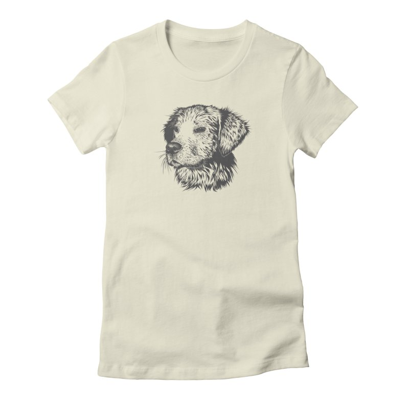 Dog Women's Fitted T-Shirt by muratduman's Artist Shop