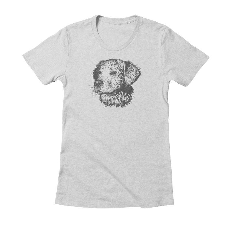 Dog Women's Fitted T-Shirt by muratduman's Artist Shop