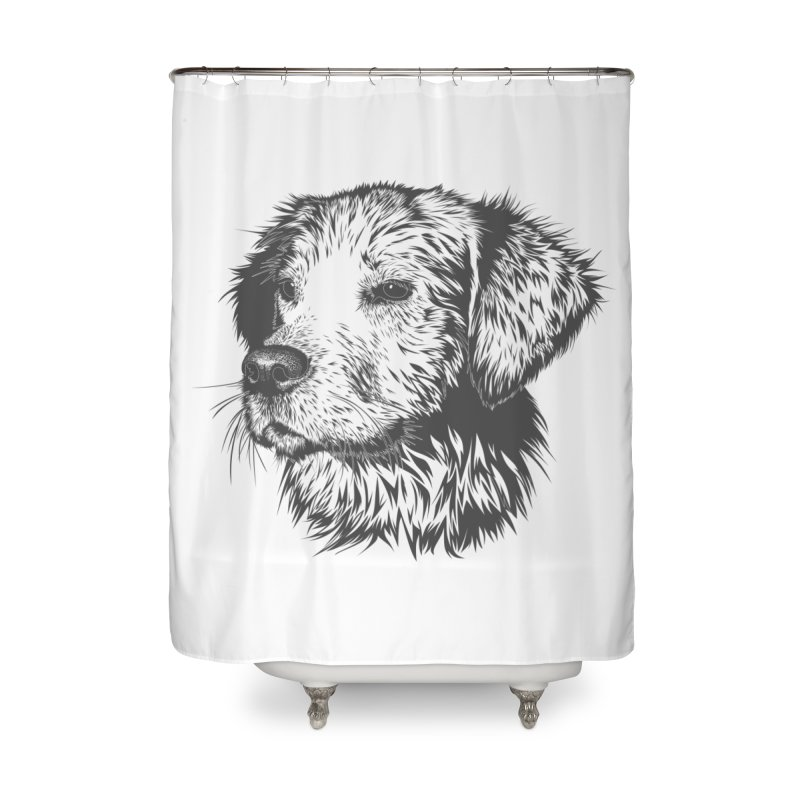 Dog Home Shower Curtain by muratduman's Artist Shop