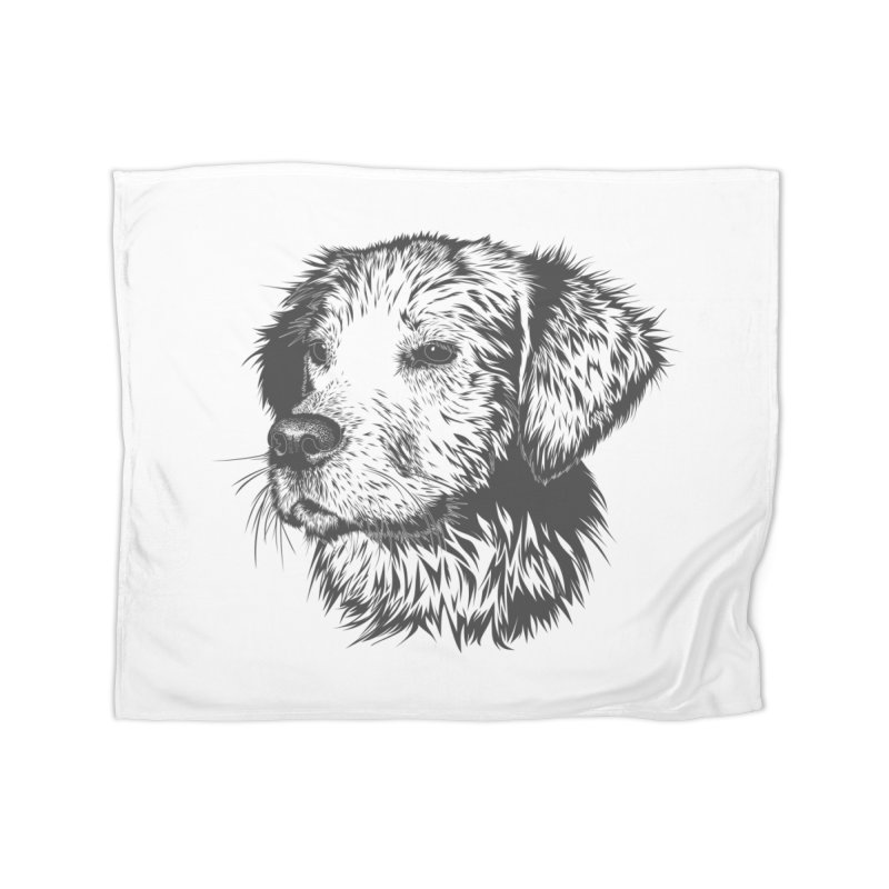 Dog Home Fleece Blanket Blanket by muratduman's Artist Shop