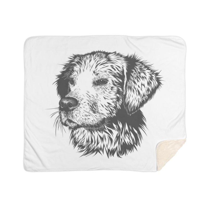 Dog Home Sherpa Blanket Blanket by muratduman's Artist Shop