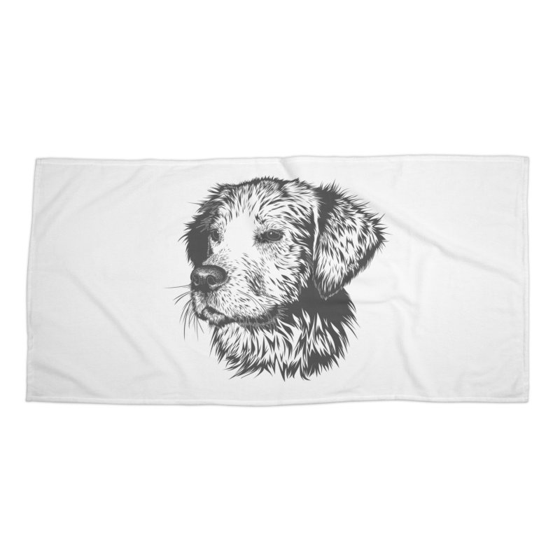 Dog Accessories Beach Towel by muratduman's Artist Shop